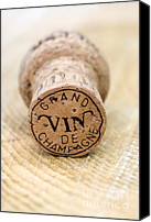 Macro Photography Canvas Prints - Grand vin de Champagne Canvas Print by Frank Tschakert
