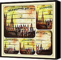 Landmarks Mixed Media Canvas Prints - Grandeur and Elevation Canvas Print by Jan Steadman-Jackson