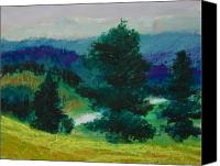 Rural Landscapes Pastels Canvas Prints - Grandfather Canvas Print by Wynn Creasy