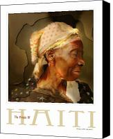 Haitian Canvas Prints - grandma - the people of Haiti series poster Canvas Print by Bob Salo