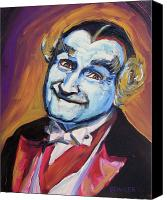 Horror Canvas Prints - Grandpa Munster Canvas Print by Buffalo Bonker