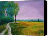 Landscapes Pastels Canvas Prints - Grandpss Drive Canvas Print by Wynn Creasy