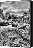 Kinetic Canvas Prints - Granite in Black and White Canvas Print by JC Findley