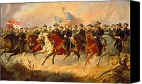 Civil War Painting Canvas Prints - Grant and His Generals Canvas Print by War Is Hell Store