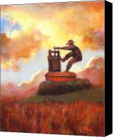 Contry Canvas Prints - Grape Crusher Sunset Cloud Napa Valley Canvas Print by Takayuki Harada