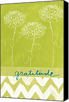 Motivation Canvas Prints - Gratitude Canvas Print by Linda Woods