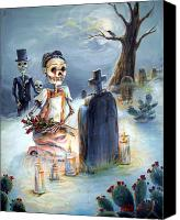 Dead Canvas Prints - Grave Sight Canvas Print by Heather Calderon