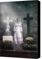Graveyard Canvas Prints - Graves Canvas Print by Joana Kruse