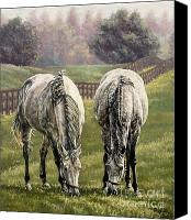 Pdjf Canvas Prints - Grazing Canvas Print by Thomas Allen Pauly