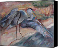 Susan Hanlon Canvas Prints - Great Blue Heron Canvas Print by Susan Hanlon