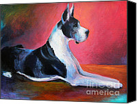Great Dane Canvas Prints - Great Dane painting Svetlana Novikova Canvas Print by Svetlana Novikova