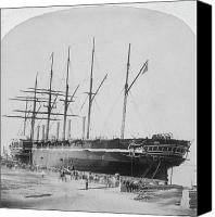 New York Harbor Canvas Prints - Great Eastern 1858-59 Canvas Print by Granger