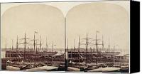 New York Harbor Canvas Prints - Great Eastern 1859 Canvas Print by Granger