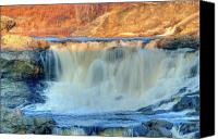 Androscoggin River Canvas Prints - Great Falls 14133 Canvas Print by Guy Whiteley