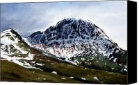 Gable Canvas Prints - Great Gable Canvas Print by Paul Dene Marlor