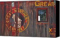 Boxcar Canvas Prints - Great Northern Railway Old Boxcar Canvas Print by Bruce Gourley