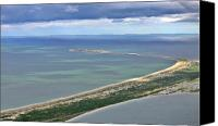Aerial Canvas Prints - Great Point Nantucket Canvas Print by Duncan Pearson