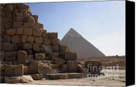 On-the-look-out Canvas Prints - Great Pyramids Khafre Canvas Print by Darcy Michaelchuk