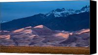 Storm Canvas Prints - Great Sand Dunes  Colorado Canvas Print by Steve Gadomski