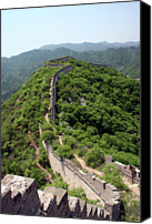 Ancient Photo Canvas Prints - Great Wall Of China Canvas Print by Natalia Wrzask