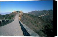 Watchtower Canvas Prints - Great Wall of China with Arrow Towers Canvas Print by George Oze