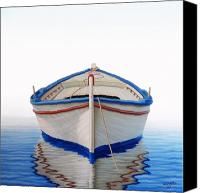 Row Canvas Prints - Greek Boat Canvas Print by Horacio Cardozo