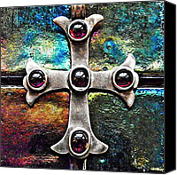 Byzantine Canvas Prints - Greek Cross 3 Canvas Print by Sarah Loft