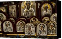 Icons Canvas Prints - Greek Orthodox Church Icons Canvas Print by David Smith