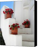 Stucco Canvas Prints - Greek steps  Canvas Print by Jane Rix