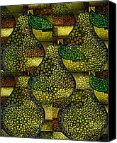 All Canvas Prints - Green Anjou Pear Abstract Canvas Print by Terry Mulligan