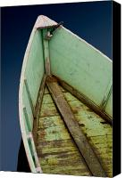 Brent L Ander Canvas Prints - Green Boat Canvas Print by Brent Ander