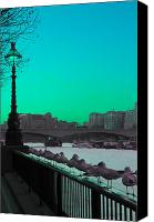 London Skyline Canvas Prints - Green day in London Canvas Print by Jasna Buncic