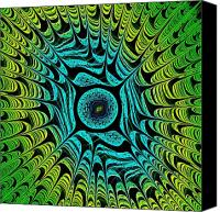 Fantasy Canvas Prints - Green Dragon Eye Canvas Print by Anastasiya Malakhova
