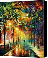Afremov Canvas Prints - Green Dreams Canvas Print by Leonid Afremov