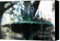 Savannah Square Canvas Prints - Green Fountain Canvas Print by Carol Groenen