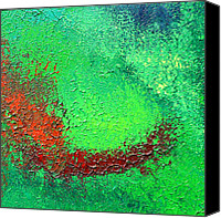 Green Reliefs Canvas Prints - Green Freshness Canvas Print by Inder Sethi