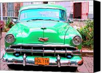 Havana Daydreams Canvas Prints - Green Machine Canvas Print by Dominic Piperata