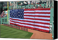 Fenway Park Painting Canvas Prints - Green Monsta Pride Canvas Print by Bruce Carpenter