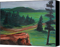 Rafael Gonzales Canvas Prints - Green Mt. Open Field Canvas Print by Rafael Gonzales