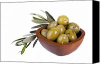 Style Canvas Prints - Green olives Canvas Print by Jane Rix