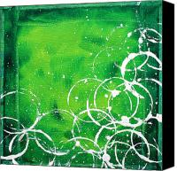 Lime Painting Canvas Prints - Green Riches by MADART Canvas Print by Megan Duncanson
