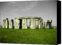 Ruins Canvas Prints - Green Stonehenge Canvas Print by Kamil Swiatek