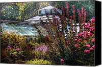 Floral Giclee Canvas Prints - Greenhouse - The Greenhouse Canvas Print by Mike Savad