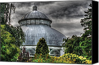 Unusual Photo Canvas Prints - Greenhouse - The Observatory Canvas Print by Mike Savad