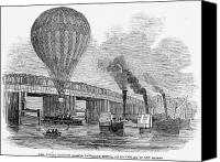 River Transportation Canvas Prints - Greens Balloon, 1845 Canvas Print by Granger