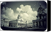 Naval College Canvas Prints - Greenwich Old Royal Naval College Canvas Print by Brian Benson