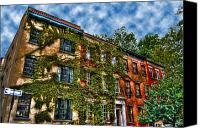 Greenwich Canvas Prints - Greenwich Village Ivy Canvas Print by Randy Aveille