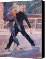 Ice Figures Canvas Prints - Gregory and Petuhkov at Mohonk Canvas Print by Joyce Kanyuk