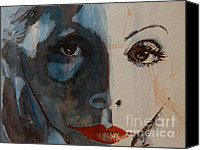 Silver Screen Actress Canvas Prints - Greta Canvas Print by Paul Lovering