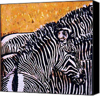 Animals Ceramics Canvas Prints - Grevy Colt Canvas Print by Dy Witt